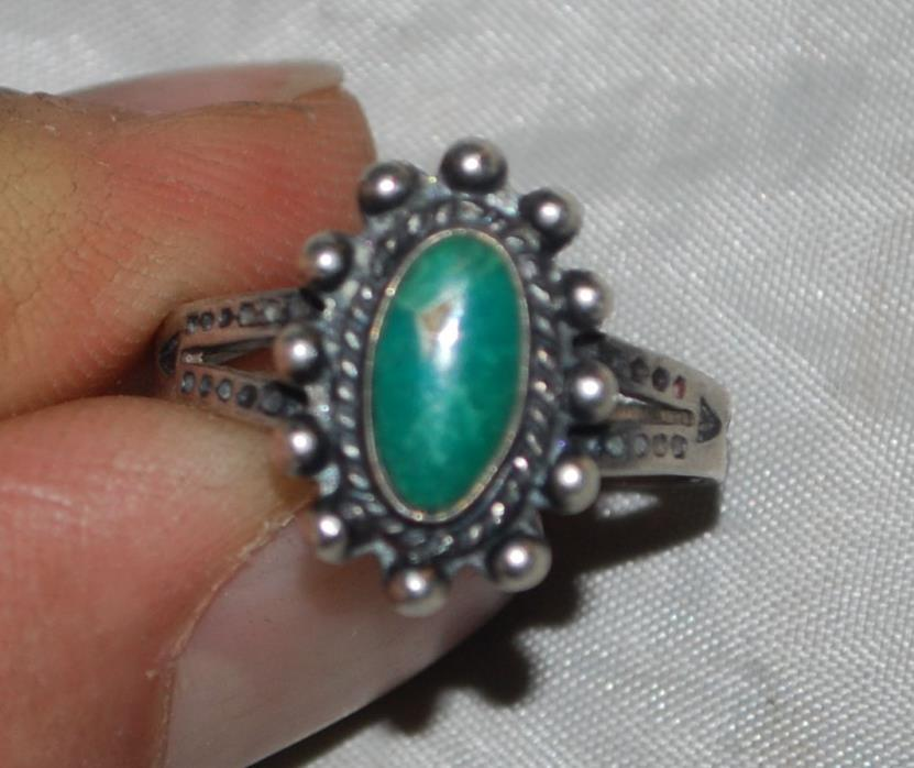 VINTAGE STERLING SILVER TURQUOISE Ring SOUTHWEST