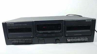 Vintage Kenwood KX-W594 Dual Cassette Deck Player Recorder