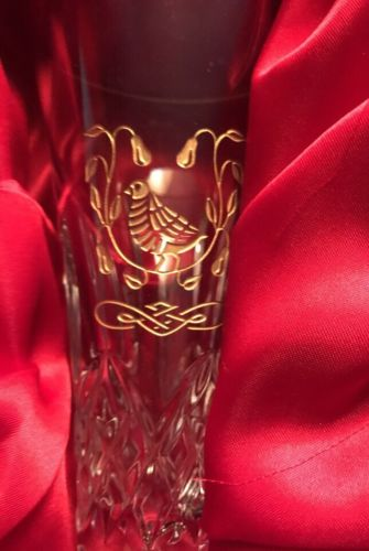 WATERFORD CRYSTAL LISMORE, Partridge   CHAMPAGNE FLUTE /Gold