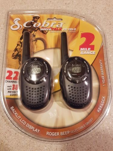 COBRA PR1352 GMRS/FRS 2-WAY RADIO'S WITH MICRO TALK 2 MILE RANGE NEW SEALED ??