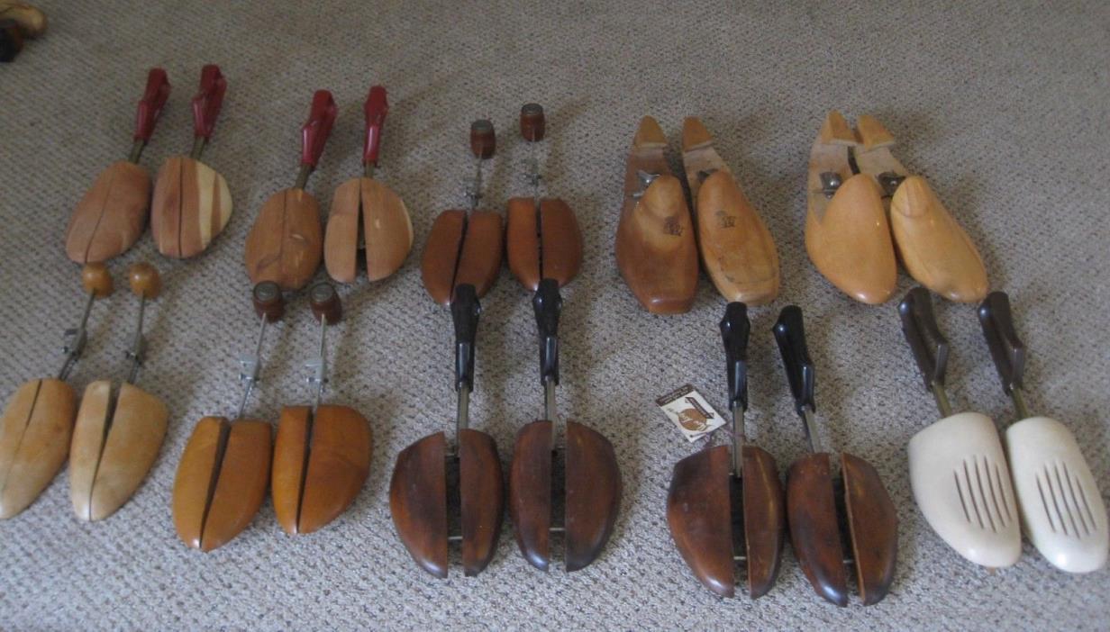 Vintage Lot Wood Shoe Shaper Stretcher Shoe Tree 10 Pair