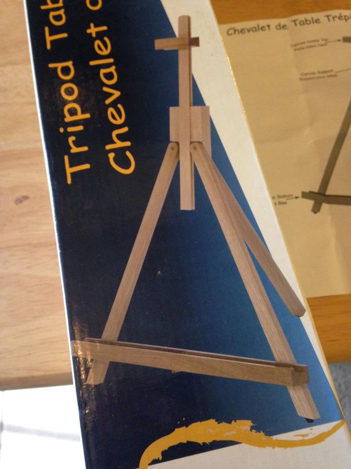 New Tripod Table Easel Display Artist Hard Wood 24