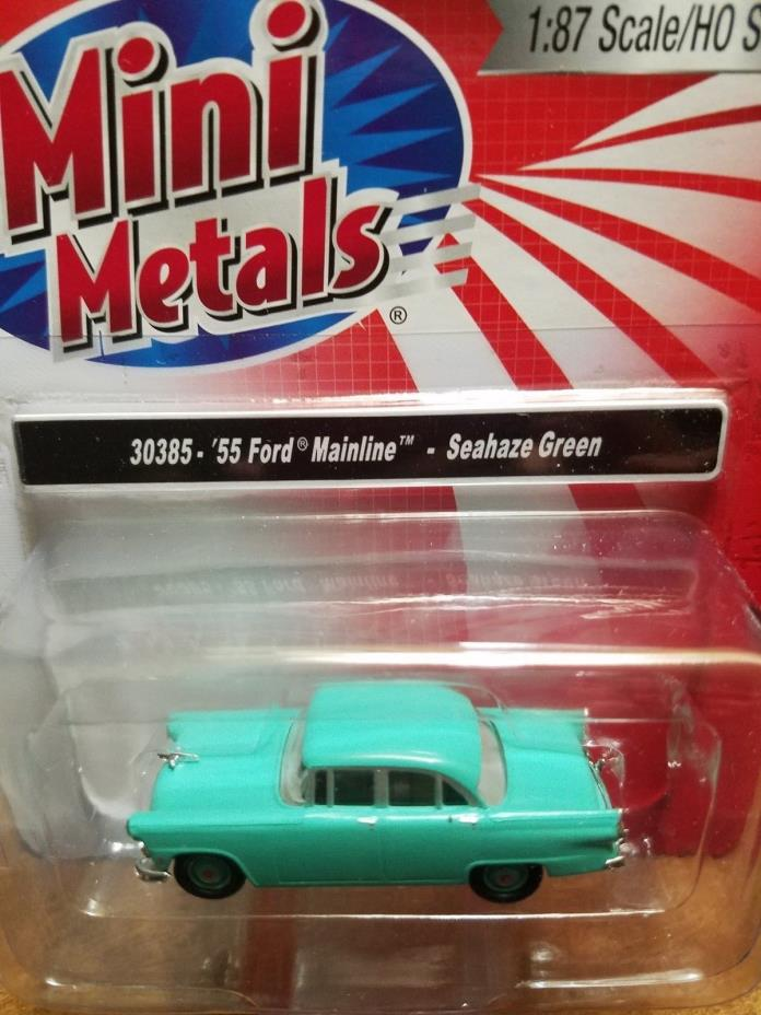Mini Metals HO scale 55 Ford Mainline Seahaze Green