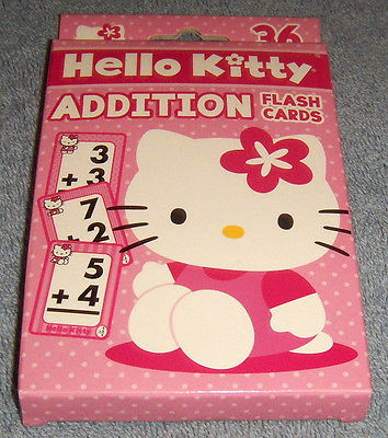 Hello Kitty Learning Cards Addition Flash Cards New