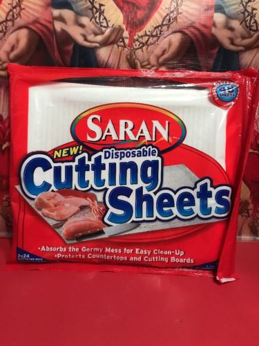 """new Sealed Saran Disposable Cutting Sheets 24 pack 9.68""""x11.75"""""""
