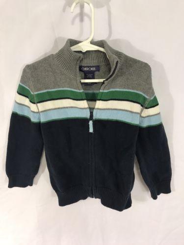 Cherokee Toddler Boy's Striped Sweater - Size 3T - Zipper