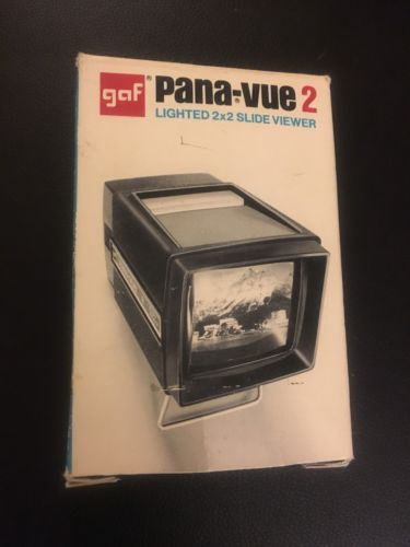 Pana-Vue 2 Lighted 35mm 2x2 Slide Film Viewer New In Box