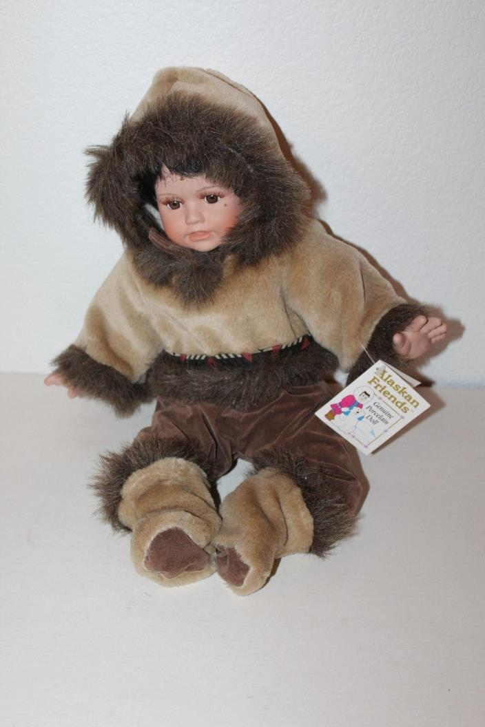 Alaskan Friends Eskimo Alaska Doll Genuine Porcelain Collectible Doll