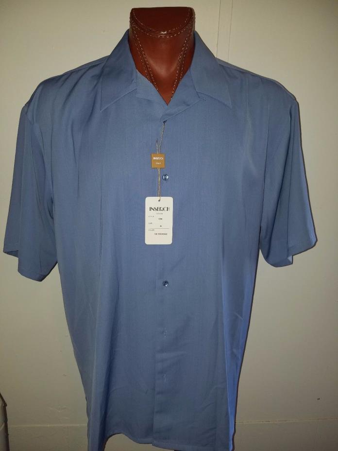 NWT $140 INSERCH Light Blue button up shirt MADE IN ITALY Size XL