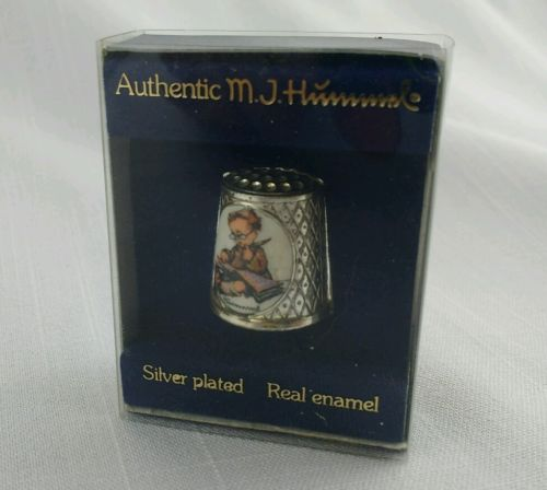 Hummel Thimble Reading Boy Silver Plated W. Germany 1983 1st Edition