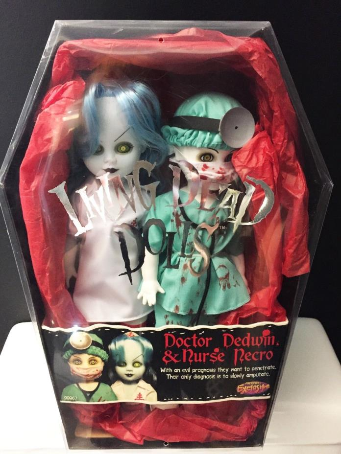 Living Dead Dolls Exclusives Dr. Dedwin and Nurse Necro Open/Complete