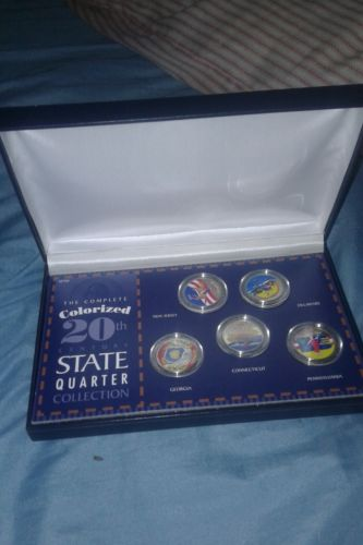 20th Century State Quarters in case Ungraded, Uncertified, Colorized
