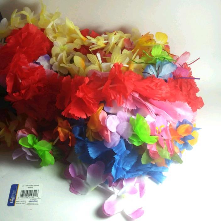 Luau Party Favors Silk Leis Hawaiian Tropical Themed Coconut Bra Head Wreath 36