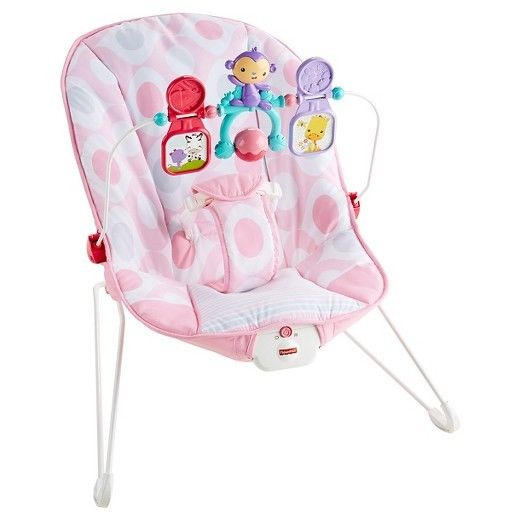 Fisher-Price Baby's Bouncer - Pink Ellipse **** New Open Box ****