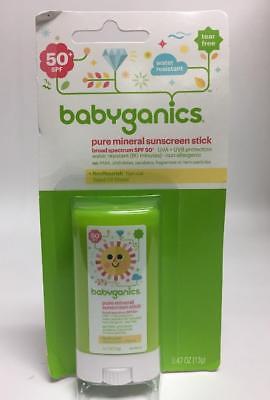 Babyganics Pure Mineral Sunscreen Stick SPF 50, 0.47-Ounce