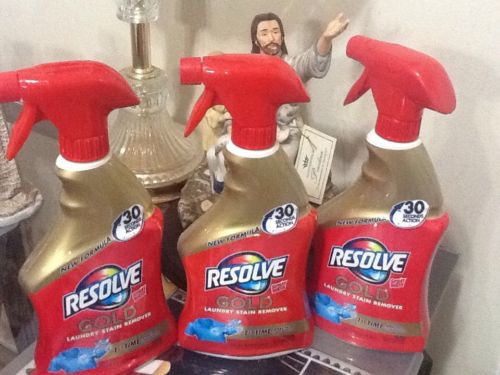 RESOLVE GOLD stain Remover 22 Oz. 3 Bottles NEW In Bottles Awesome Stuff