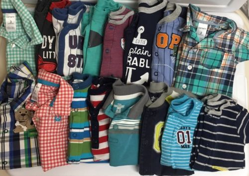 Baby Boy's Large Clothing Outfit Lot Size 0-3 3 Months Carter's, Boutique, Etc.