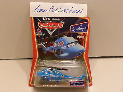 DISNEY PIXAR CARS DINOCO HELICOPTER SUPERCHARGED EXTREME RARE TRILINGUAL VERSION