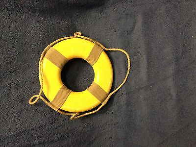 NEW Vintage Yellow Decorative Lifering-lake-beach-tropical-nautical-home  8