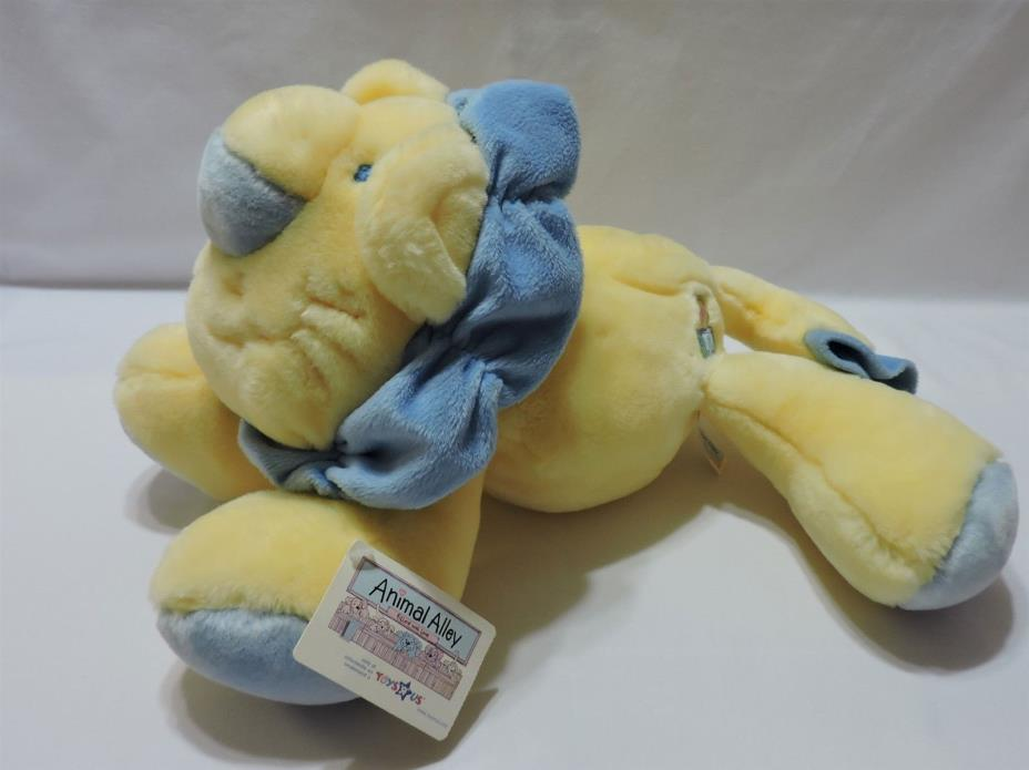 Lion Plush Stuffed Animal Alley Toy My 1st Yellow Blue Soft Cuddly Baby 16