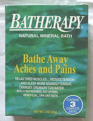 BATHERAPY FROM QUEEN HELENE NATURAL MINERAL BATH 3 COMPLETE BATHS