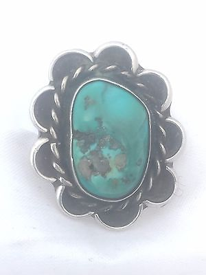 Vintage Sterling Silver Turquoise  Ring Southwest Size 6.25 Handmade Tribal 7g