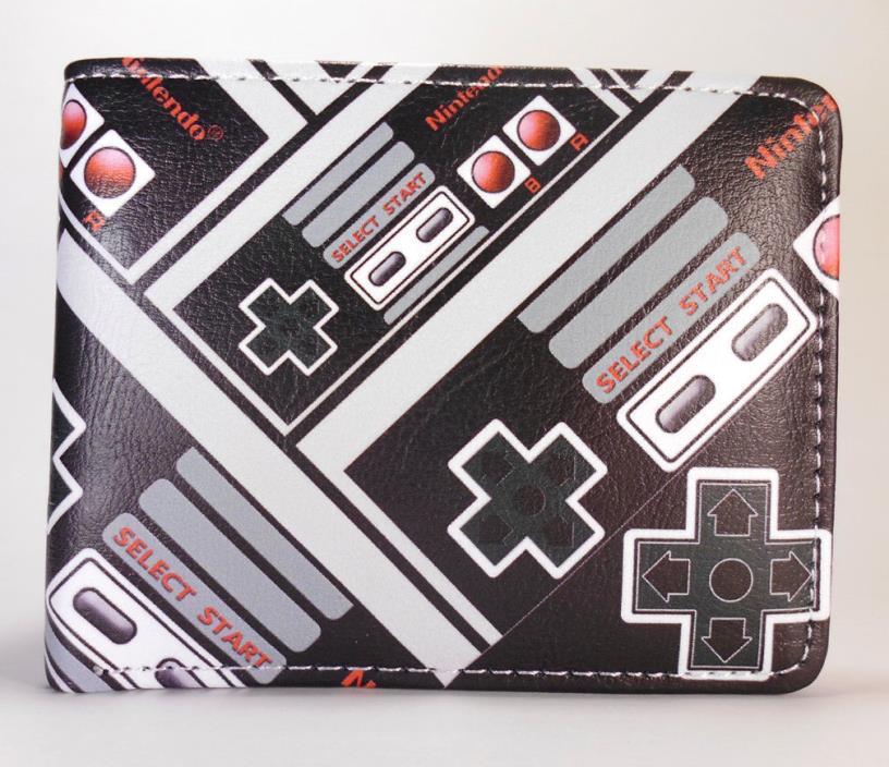 Nintendo Retro Game Controller bifold wallet Mario video game Mens Cosplay