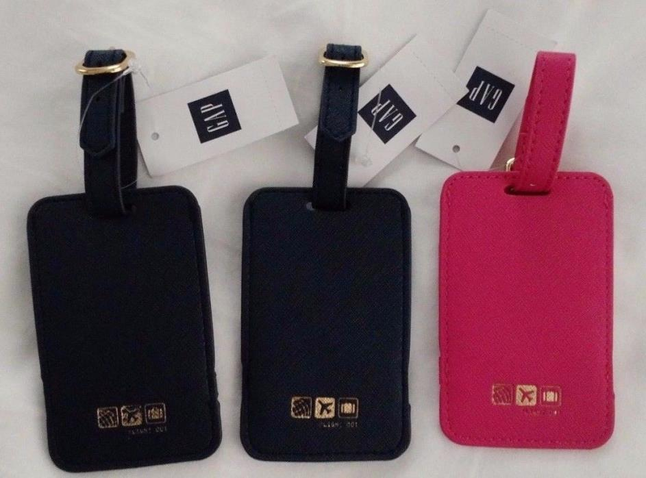Flight 001 Luggage Tags 3 Tags (2 Blue 1 Pink) New with Tags