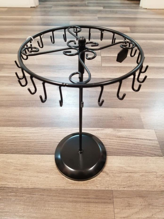 Black Rotating Necklace Holder Bracelet Stand / Jewelry Organizer / Jewelry Tree