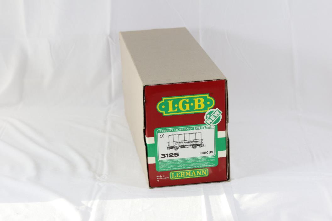 LGB BIG TRAIN CIRCUS OBSERVATION PASSENGER CAR 3125 -- NIB