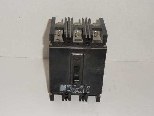 Westinghouse FB3020L 20A 600Vac 3 Pole Circuit