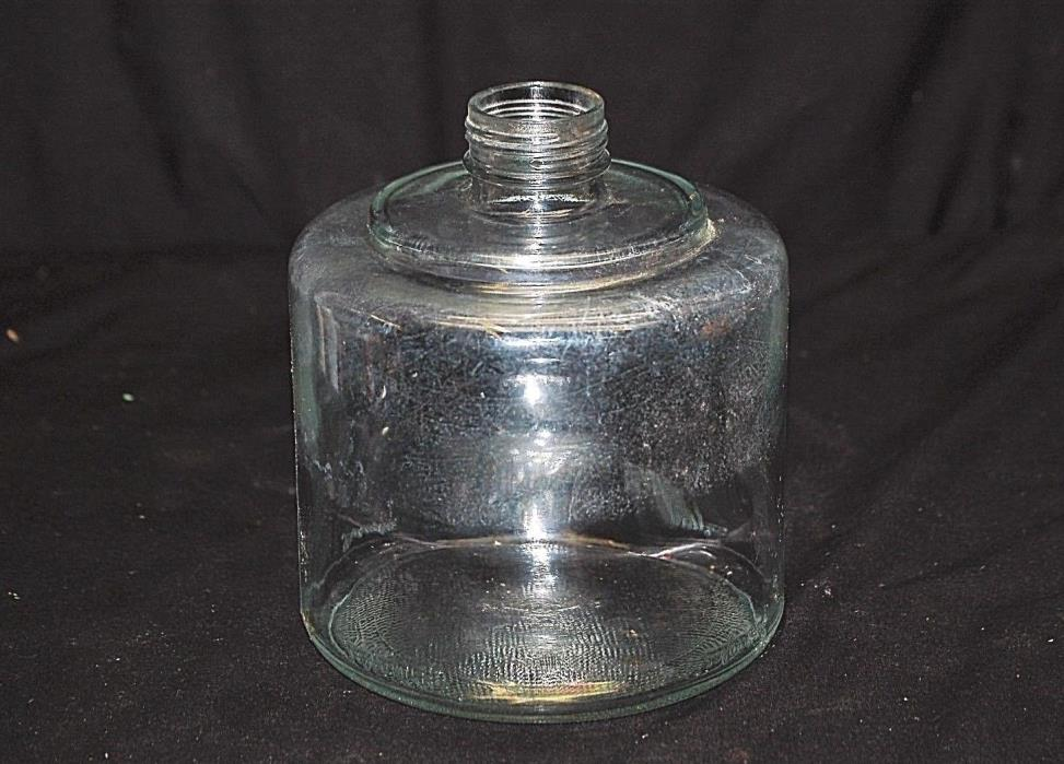 Old Antique Primitive Glass Kerosene Stove Tool Fuel Oil Jar Bottle Dripper