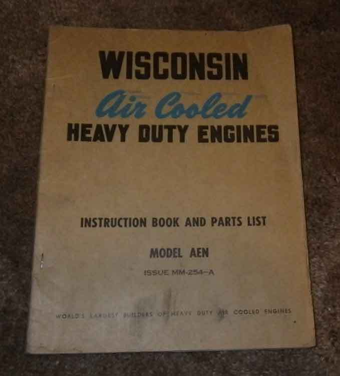 Wisconsin Engine manual. Models AEN  Have others listed.