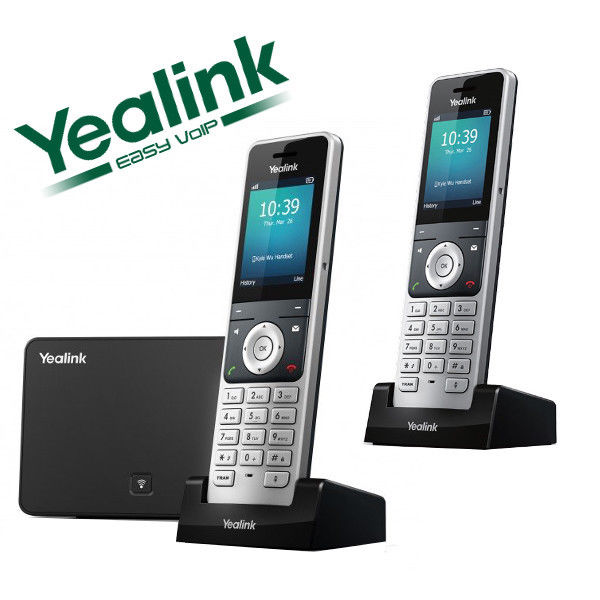 Yealink W56P DECT 2 Cordless Handset VOIP Phone Business Wireless IP W56P + W52H