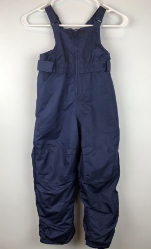 Cat and Jack Toddler 5T Snow Suit Pant Bib Zip Front Navy Blue Unisex