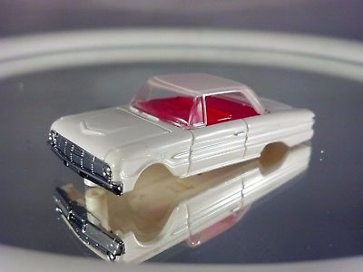 63 Ford Falcon Dash Body White/White Fits T-JET  Ho Scale Slot Car Body Only