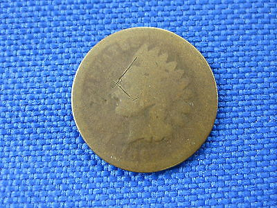 1867 U.S. INDIAN HEAD CENT COPPER PENNY COIN