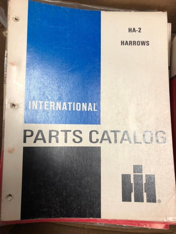 International Parts Catalog HA-2 HARROW