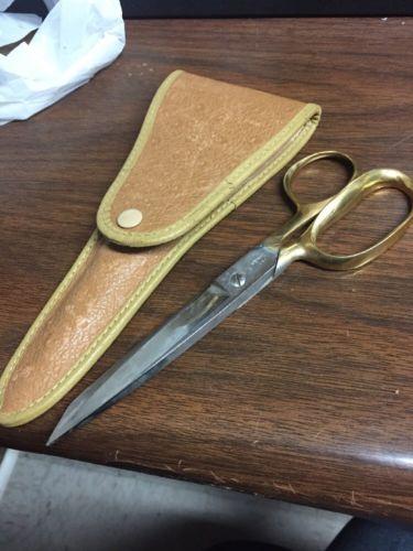 Vintage Henkel Scissors W/leather Case