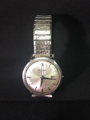 Men/s Vintage BULOVA Aero jet Aerojet Speidel Band AS IS VIEW PICTURES