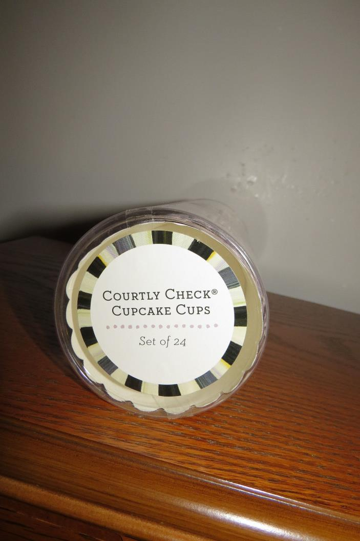 MacKenzie-Childs Courtly Check Cupcake Cups 24 Pack #32907-040 New in Package