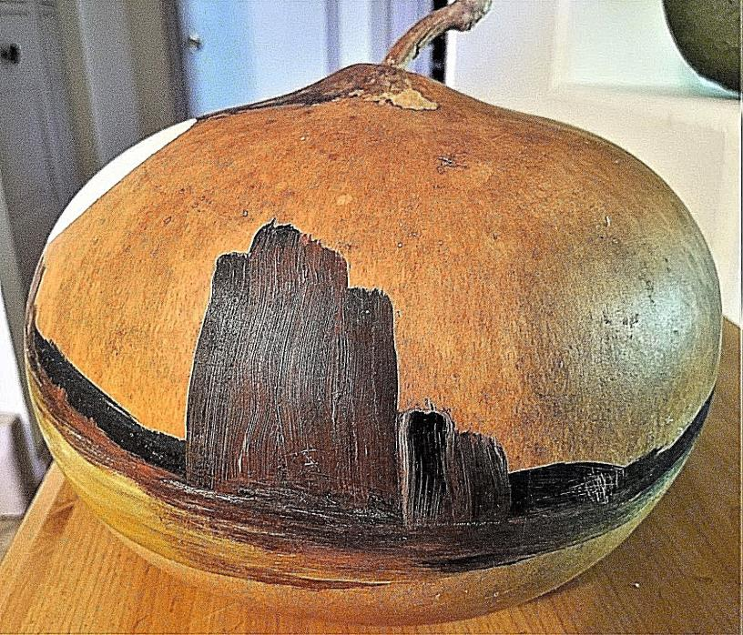 SOUTHWEST HOME DECOR LARGE GOURD-CUSTOM PAINT-EXCELLENT CONDITION-FREE SHIP