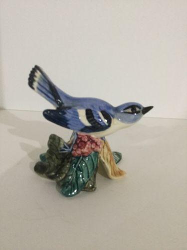 Stangl Pottery Vintage #3456 Cerulean Warbler Bright Colors 4-1/4
