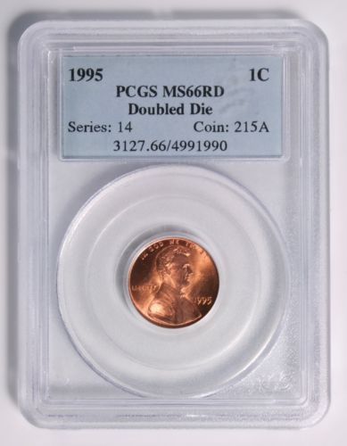 1995 Lincoln Cent, PCGS MS66RD (Red) Doubled Die