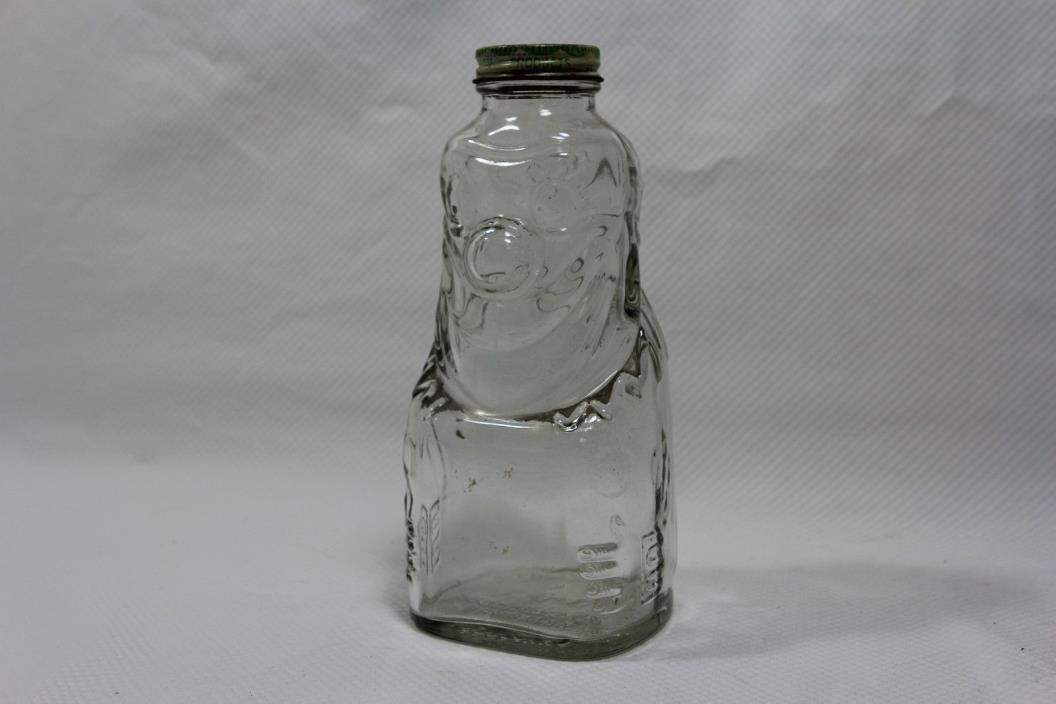 VINTAGE ORIGINAL GLASS CLOWN BANK GRAPETTE PRODUCTS CO. CAMDEN ARK 7.5