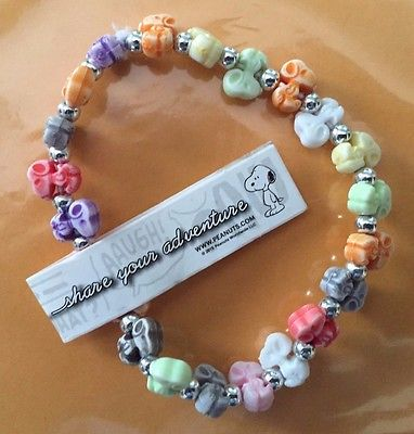 Peanuts SNOOPY Bracelet Multi-Color Free Shipping New