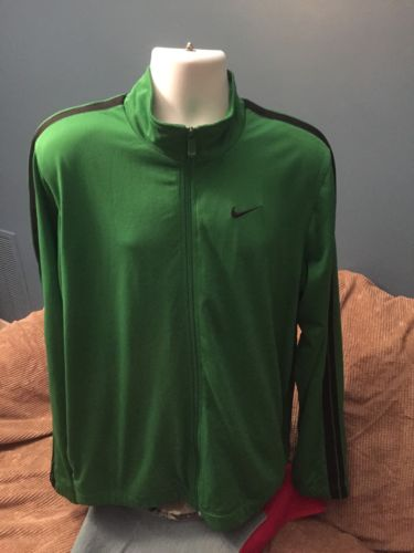 Vintage Mens NIKE  track jacket size XL Green Full Zipper