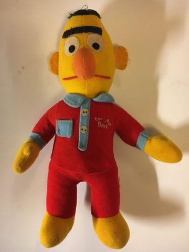 Beddy Bye Bert Vintage Sesame Street Plush Collectible Doll