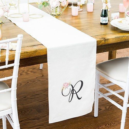 Monogrammed Wedding Table Runners