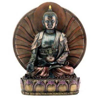 Statues Bronze Healing Medicine Buddha Buddhism Decoration Statue Valentines Day